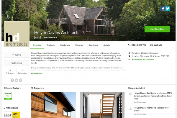 Helyer Davies Architects are now on Houzz